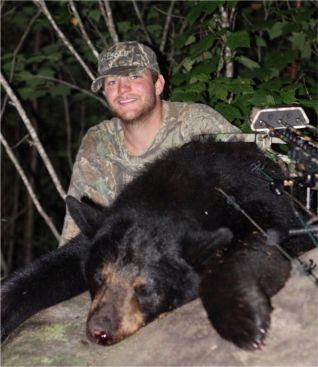 Luke's first bear! 225lb sow