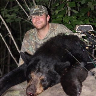 Luke's first bear! 225lb sow